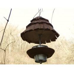 Mangeoire à oiseaux en bois-maison de lutins-rouge-gorge