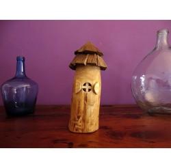 Veilleuse de lutin sur pile bois recyclés