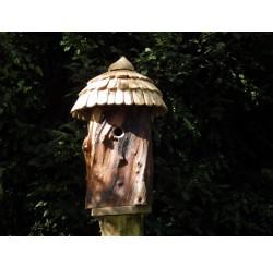 Nichoir pour oiseaux - Maison de lutins POMMIER ET Frêne-accès 27MM