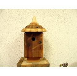 Nichoir à oiseaux - boite à oiseaux- accès 27mm bois recyclé