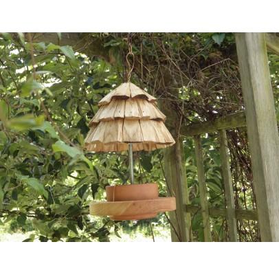 Mangeoire à oiseaux-bois recyclé-mesanges
