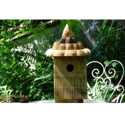 Nichoir en bois recyclés pour oiseaux-accès 32 mm-toit pointu