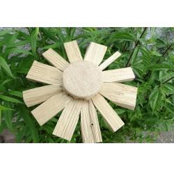 """Fleurs en bois recyclés du jardin des lutins """"nature"""" -fabrication artisanale"""