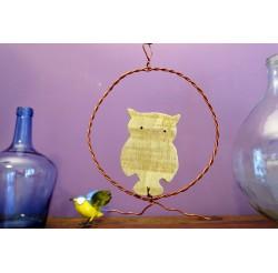 "Médaillons décoratifs ""envol"" en bois recyclés"