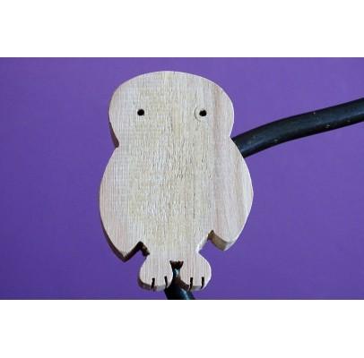"""Magnets décoratifs en bois recyclés """"profil d'oiseau"""""""