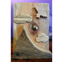 """Scénette naturelle en bois recyclés """"envol"""""""