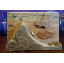 """Scénette naturelle en bois recyclés """"crépuscule"""""""