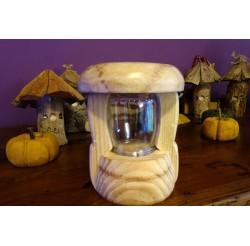 """Lanterne LED verre blanc rechargeable sur USB """"champignon des lutins"""""""
