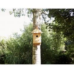 Nichoir à oiseaux -bois recyclé-mésanges