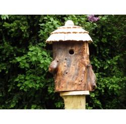 Nichoir pour oiseaux en bois - Maison de lutins-mésanges