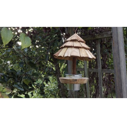 Mangeoire à oiseaux-bois recyclé-sittelle