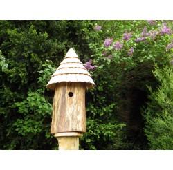 Nichoir pour oiseaux - Maison de lutins EN Frêne DURCI-accès 32 MM