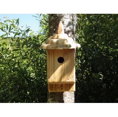 Nichoir à oiseaux -bois recyclé- boite à oiseaux 32 mm