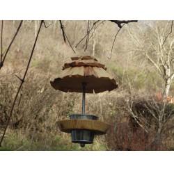 Mangeoire à oiseaux-bois recyclé-rouge-gorge