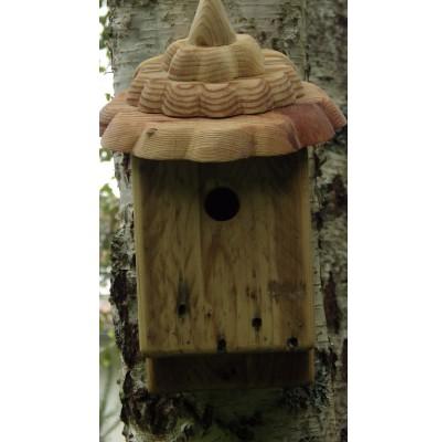 Nichoir pour oiseaux -bois recyclé- boite à mésanges 27 mm