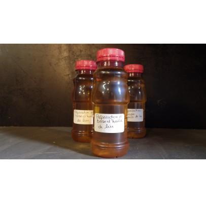 Préparation à base d'huile de lin pour l'entretien des nichoirs et mangeoires