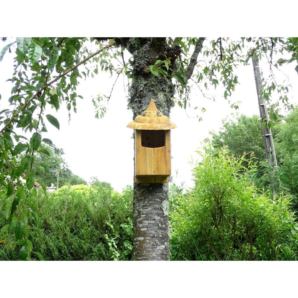 nichoir oiseaux semi ouvert boite oiseaux acc s 32. Black Bedroom Furniture Sets. Home Design Ideas