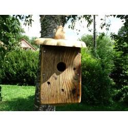 Nichoir à oiseaux à suspendre - boite à oiseaux - accès 32mm