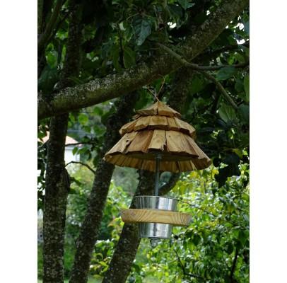 """Mangeoire à oiseaux """"maison de lutin"""""""