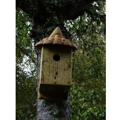 Nichoir à oiseaux -bois recyclés- boite à mésanges