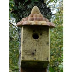 Nichoir à oiseaux -bois recyclé- boite à mésanges