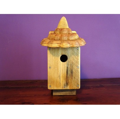 Nichoir à oiseaux - boite à oiseaux- accès 32 mm bois recyclés