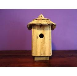 Nichoir à oiseaux - boite à oiseaux- accès 32 mm bois recylés