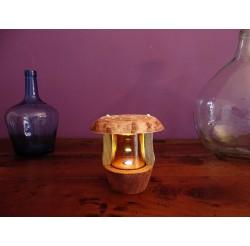Lanterne LED de lutin rechargeable sur USB bois recyclés